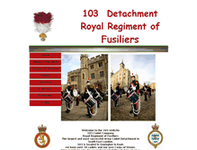 Tablet Preview of 103fusiliers.co.uk